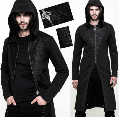 Punkrave Dandy Jacquard Embroidery Giacca Gothic con Man Baroque cappuccio FqZx40UwT