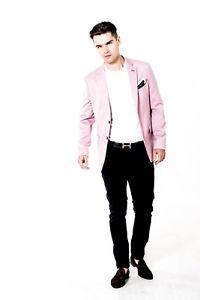 Blazer Homme Veste Sur Mesure Slim Fit Blazer Alexander Caine Smart Printemps été-afficher Le Titre D'origine Marchandises De Proximité