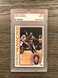 1978 Topps Earl Monroe PSA 7 Near Mint #45