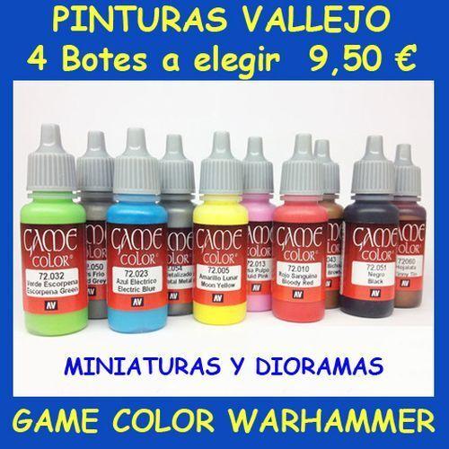 € 2,50 c//u 4 pots paints vallejo choose Game Color Acrylic-warhammer