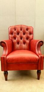 Laura Ashley Leather Armchair EXCEPTIONAL CONDITION | eBay