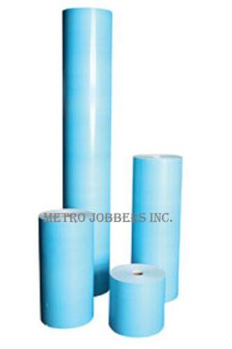 """6/"""" X 750/' Blue Urethane Grade Masking Paper 6 Rolls Coated"""