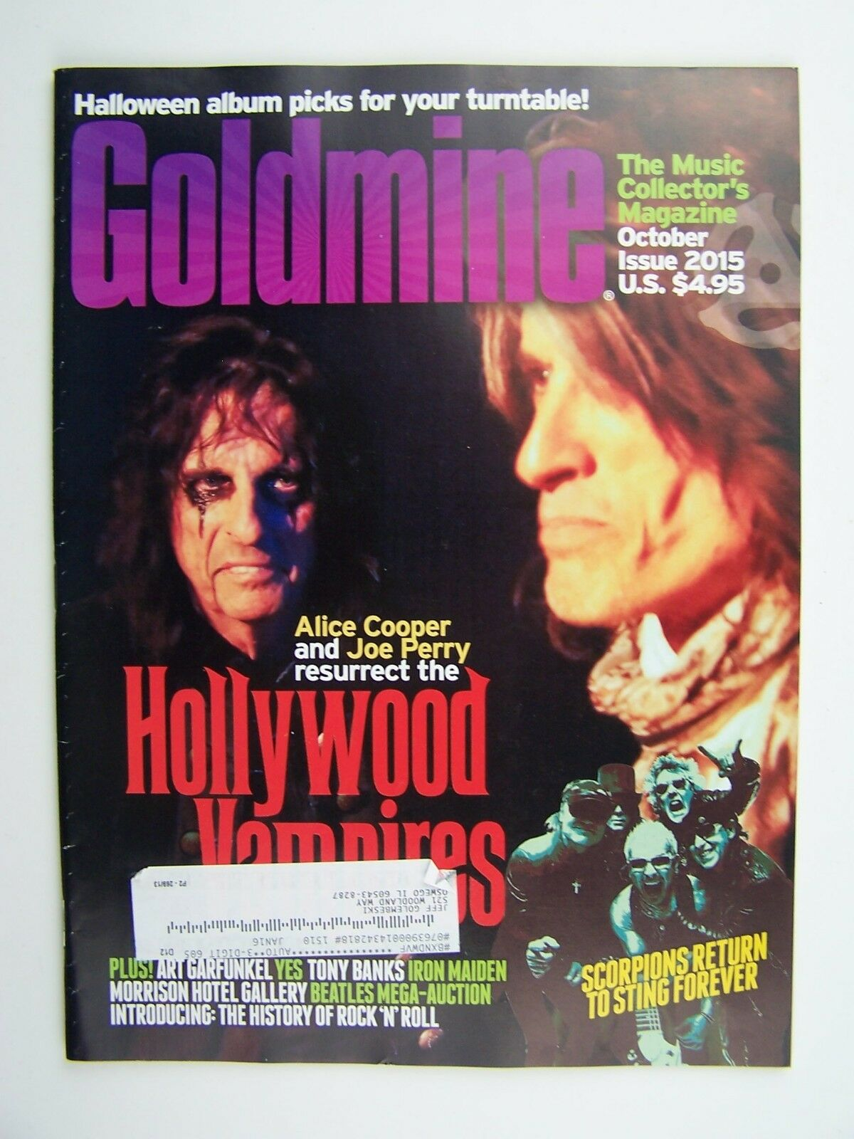 Goldmine The Music Collector's Magazine October 2015 Ho