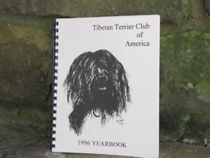 TIBETAN-TERRIER-CLUB-OF-AMERICA-1996-YEARBOOK-WITH-ARTWORK-BY-GARY-CARR