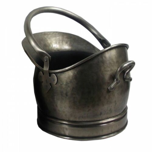 Mansion Antique Pewter Effect Fireside Coal Hod Bucket Medium