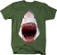 Great-White-Shark-Jaw-Bloody-Mouth-Wide-Open-Fishing-Ocean-Tshirt miniatuur 5