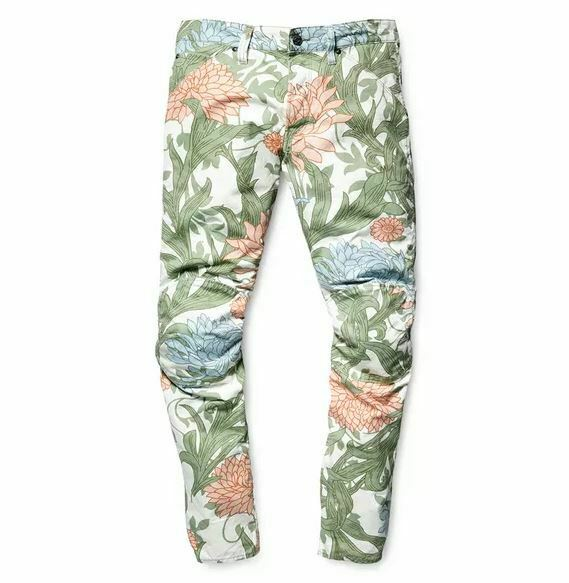 G STAR RAW ELWOOD X25 5622 3D conique Toile Arts Craft Floral Jeans Pharrell
