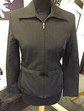 Mango Black Belted Jacket Size Uk 12
