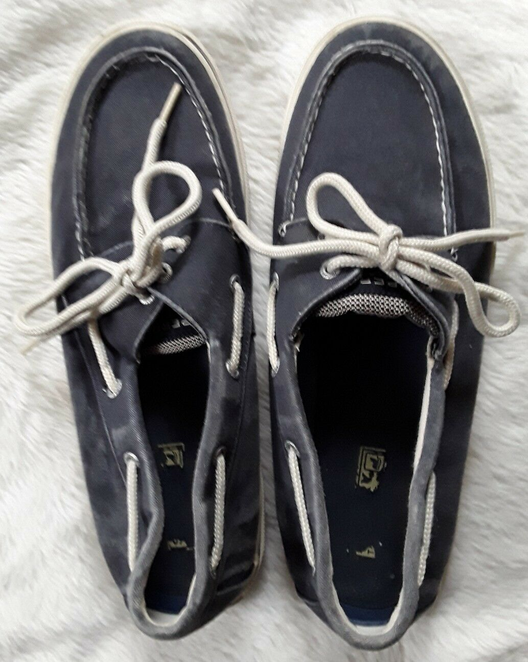 Sperry Uomo Denim Blue Top Slider Boat Shoes Size 11M