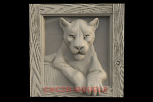3D Model STL for CNC Router Carving Artcam Aspire Panther Lion Animal IS104