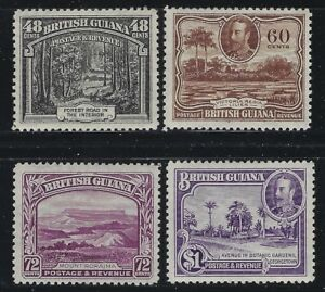 British-Guiana-1934-George-V-Pictorial-set-Sc-210-22-mint