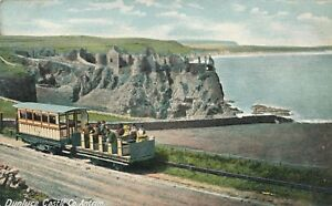 ANTRIM-Dunluce-Castle-showing-Train-Northern-Ireland