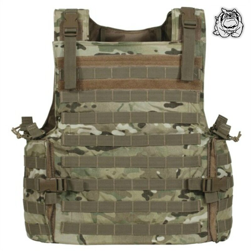 VOODOO TACTICAL ARMOR PLATE CARRIER VEST WITH MOLLE WEBBING 20-8399   MULTICAM