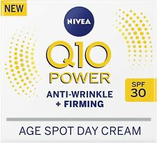 NIVEA Q10 Power Anti-Wrinkle + Firming Age Spot Day Cream SPF30 (50ml), Anti-Age