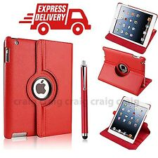 Pelle di Lusso 360 ROTANTE STAND CASE COVER PER APPLE IPAD 2 3 4 (R24