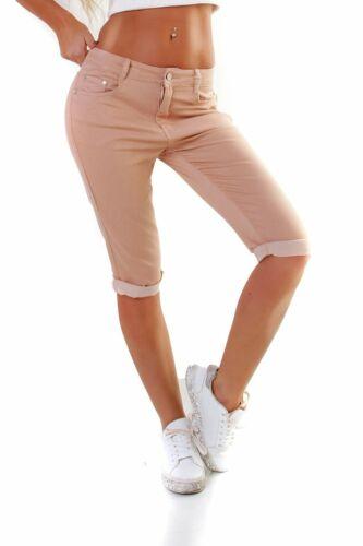 11036 Damen Caprihose Capri Hose Sommer Pants 3//4Hose Slimfit auch Übergrößen