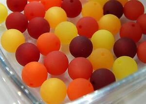 12-18-24-Stueck-POLARIS-Perlen-14mm-gross-Sommer-MIX-Rot-Orange-Gelb-6-Farben