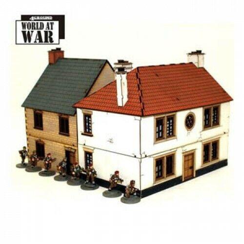 4GROUND Corner  Maison Type 1 28mm Prepainted Monde At War Terrain Terrain WW2  gros prix discount