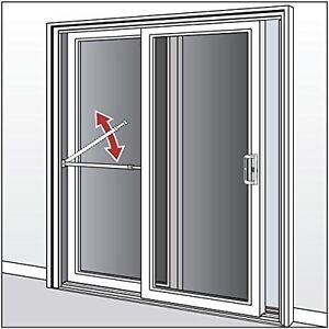 White Security Bar For Sliding Patio Door Intruder Burglar ...