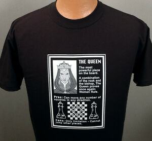 Chess-The-Queen-Rules-Black-T-shirt-CLOSEOUT-while-they-last