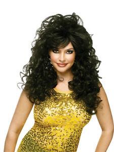 Seductress Halloween Costume Wig Black
