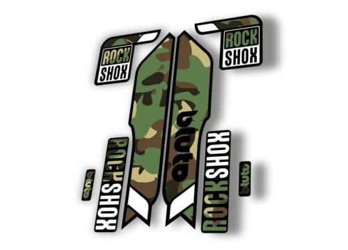 Rock Shox BLUTO 2016-17 Mountain Bike Cycling Fork Decal Sticker Camuflage