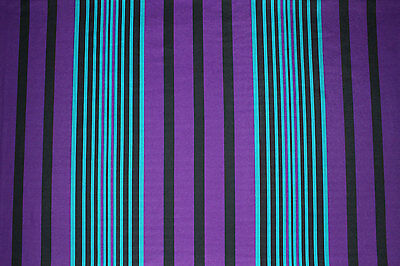 REM.1,3Mtr.Striped Ponte Roma Jersey Print Dress Material (Purple/Turquoise)