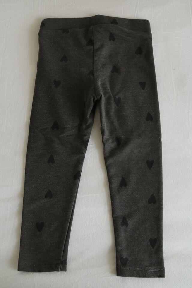 Leggings, Grå med sorte hjerter, H&M