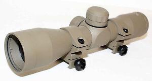 Trinity-4x32mm-Anodize-Tan-Mildot-Reticle-Shotgun-Slug-Scope-tactical-hunting