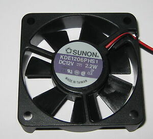 Sunon-60-mm-High-Speed-Cooling-KDE-Fan-12-V-18-CFM-31-dB-KDE1206-12VDC