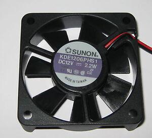 Sunon 60 mm High Speed Cooling KDE Fan - 12 V - 18 CFM - 31 dB - KDE1206 - 12VDC