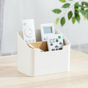 Remote Control Holder Storage Box Table Desk Case Home Organizer Shelf Rack XN