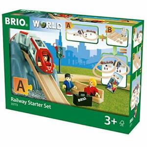 BRIO World Railway Starter Train Set A for Kids Age 3 Years and Up