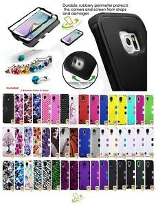 Hybrid-Rubber-Hard-Skin-TUFF-Protective-Case-Cover-Pin-For-Samsung-Galaxy-Phone