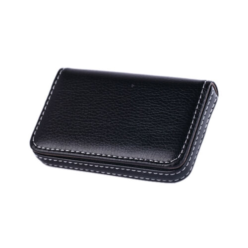 New Pocket PU Leather Business ID Credit Card Holder Case Wal El