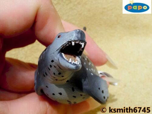 Papo LEOPARD SEAL solid plastic toy figure wild zoo sea marine animal NEW *