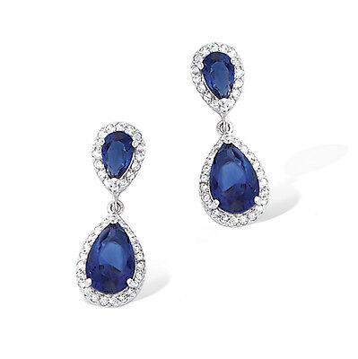 Dolly-Bijoux Boucle Oreille Rhodié Micro-sertie de Diamant Cz Argent Massif 925