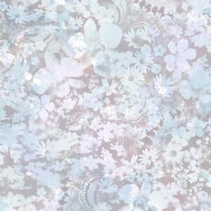 Muriva-Karina-Pastel-Flower-Pattern-Wallpaper-Floral-Leaf-Motif-Textured-Blue