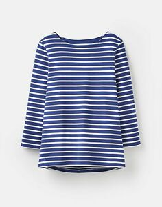 Joules-Womens-204218-Jersey-Striped-Top-Jet-Blue