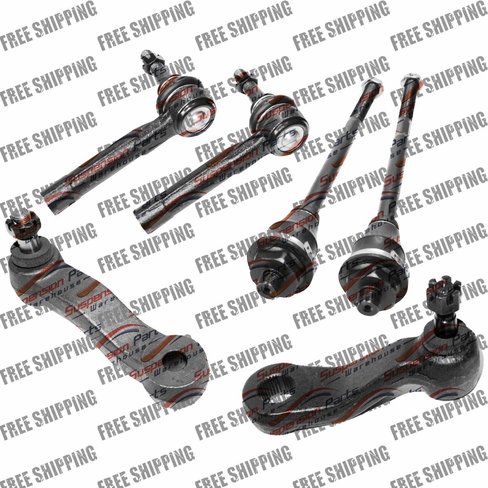 New Steering Kit Tie Rod End Idler+Pitman Arm For Chevy