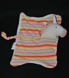 Peluche-doudou-cheval-plat-raye-BABYLOVE-DM-Kathe-Kruse-blanc-TTBE