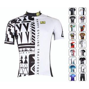 New-Road-Bike-Mens-Cycling-Short-Sleeve-Jerseys-Tops-T-shirt-Bicycle-Clothing