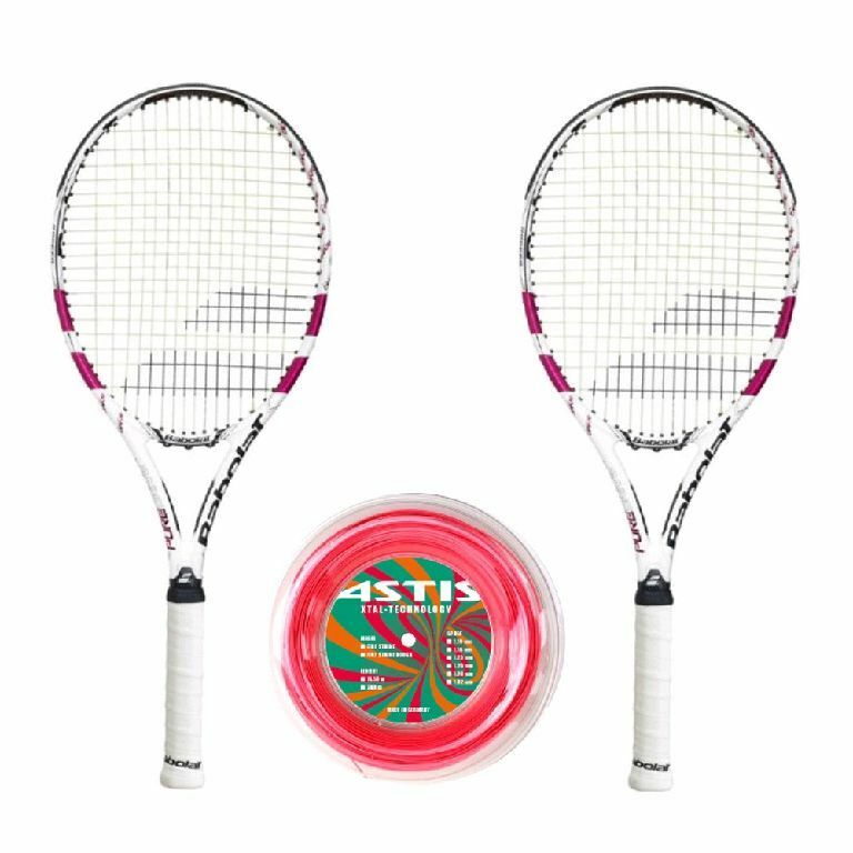 Babolat Pure Drive Lite Pink x 2 + Rolle - L2 = 4 1 4 Tennis Raquet