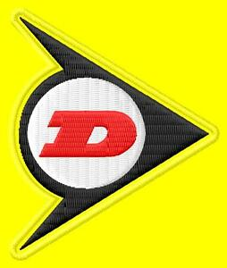 Dunlop racing flag ecusson brodé patche Thermocollant iron-on patch