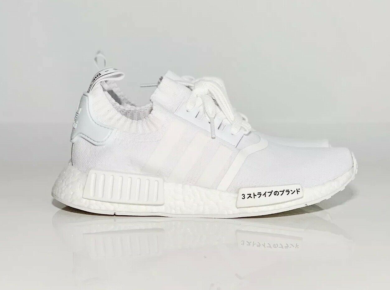New Adidas NMD R1 PK PrimeKnit Triple White Japan Size 6 DS NEW SUPREME OFFWHITE