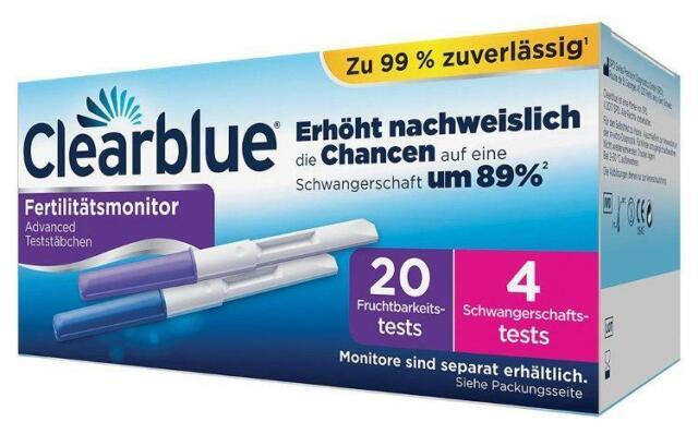 Clearblue ADVANCED Fertilitätsmonitor Teststäbchen 20+4 24 St PZN: 10131074