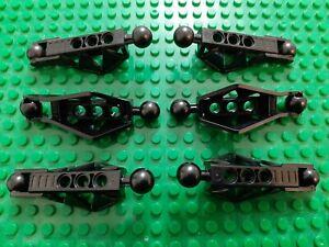 Utilise-6x-LEGO-BIONICLE-Rahkshi-Leg-Lower-Section-N-de-l-039-objet-45749-Noir-bonne-Cond