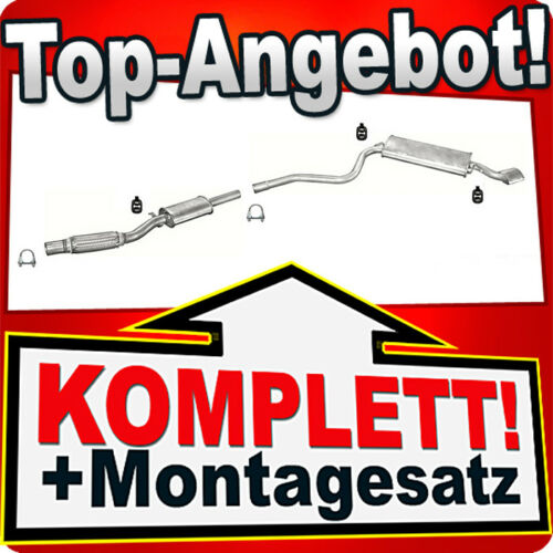 MONTAGESATZ für  Hosenrohr Fiat Seicento 1.1 Sporting