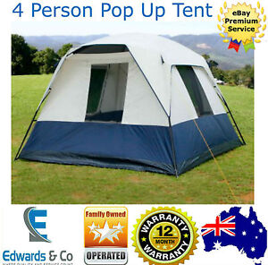 Image is loading Tent-C&ing-Dome-4-Person-Man-Family-Pop-  sc 1 st  eBay & Tent Camping Dome 4 Person Man Family Pop Cabin Waterproof Up ...