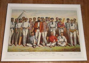 Cricket-framed-print-12-039-039-x16-039-039-Famous-English-Cricketers-cricket-wall-art